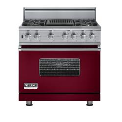 Brand: Viking, Model: VGSC5364QBULP, Fuel Type: Burgundy - Natural Gas
