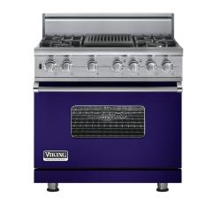 Brand: Viking, Model: VGSC5364QBULP, Fuel Type: Cobalt Blue - Natural Gas