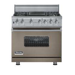 Brand: Viking, Model: VGSC5364QVBLP, Fuel Type: Stone Gray - Natural Gas