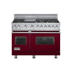 Brand: Viking, Model: VGSC5486GSSBR, Fuel Type: Burgundy,  Natural Gas
