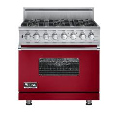 Brand: Viking, Model: VGSC5366BWHBR, Fuel Type: Apple Red - Natural Gas