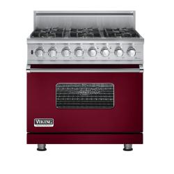 Brand: Viking, Model: VGSC5366BBR, Fuel Type: Burgundy - Natural Gas