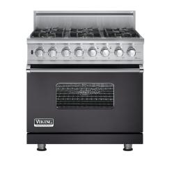 Brand: Viking, Model: VGSC5366BWHBR, Fuel Type: Graphite Gray - Natural Gas