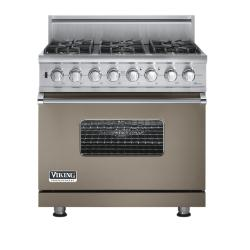 Brand: Viking, Model: VGSC5366BWHBR, Fuel Type: Stone Gray - Natural Gas
