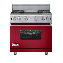 Brand: Viking, Model: VGCC5364GWHLP, Fuel Type: Apple Red - Natural Gas
