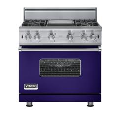 Brand: Viking, Model: VGCC5364GWH, Fuel Type: Cobalt Blue - Natural Gas