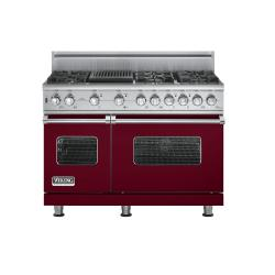 Brand: Viking, Model: VGSC5486QBKBR, Fuel Type: Burgundy,  Natural Gas
