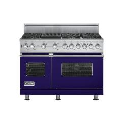Brand: Viking, Model: VGSC5486QBKBR, Fuel Type: Cobalt Blue, Natural Gas