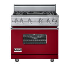 Brand: Viking, Model: VGCC5364QSSLP, Fuel Type: Apple Red - Natural Gas