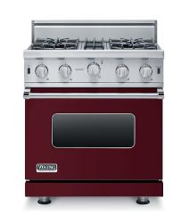 Brand: Viking, Model: VGIC53014BBK, Fuel Type: Burgundy - Natural Gas