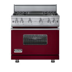 Brand: Viking, Model: VGCC5364QVB, Fuel Type: Burgundy - Natural Gas