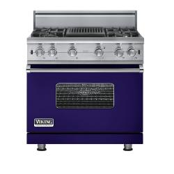 Brand: Viking, Model: VGCC5364QWHLP, Fuel Type: Cobalt Blue - Natural Gas