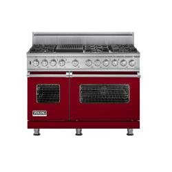 Brand: Viking, Model: VDSC5486QWH, Fuel Type: Apple Red, Natural Gas