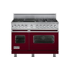 Brand: Viking, Model: VDSC5486QWH, Fuel Type: Burgundy,  Natural Gas