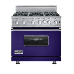 Brand: Viking, Model: VGIC5366BCBLP, Fuel Type: Cobalt Blue - Natural Gas