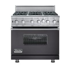 Brand: Viking, Model: VGIC5366BCBLP, Fuel Type: Graphite Gray - Natural Gas