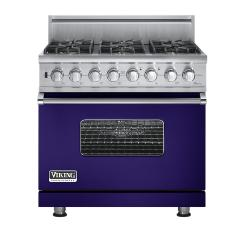 Brand: Viking, Model: VGSC5366BBR, Fuel Type: Cobalt Blue - Natural Gas