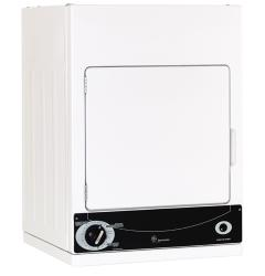 Brand: GE, Model: DSKS333ECWW, Color: White with Black Control Panel