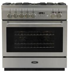 Brand: AGA, Model: AMPRO36DFSS, Style: 36 Inch Freestanding Dual Fuel Range