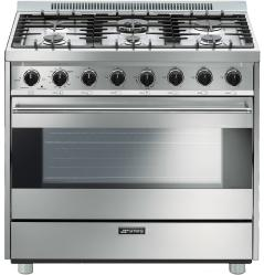 Brand: SMEG, Model: C36GGNU, Color: Stainless Steel
