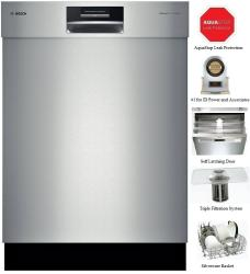 Brand: Bosch Benchmark, Model: SHE8PT55UC, Color: Stainless Steel