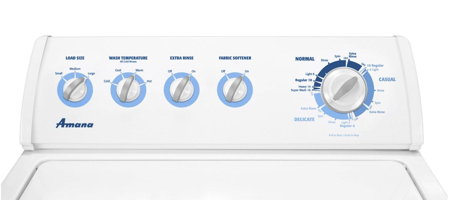 Amana Ntw4600xq 27 Inch Top Load Washer With 3 1 Cu Ft Super Capacity 14 Wash Cycles 3 Water Level Selections Automatic Temperature Control