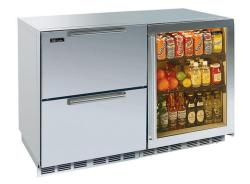 Brand: PERLICK, Model: HP48FRS2L4R, Style: Stainless Drawers/ Right Hinge Glass