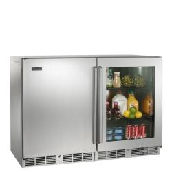 Brand: PERLICK, Model: HP48RRS1L5, Color: One Stainless Steel Solid Door, One Stainless Steel Glass Door