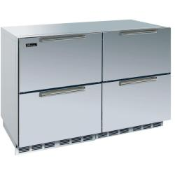 Brand: PERLICK, Model: HP48RRS1L5, Color: One Stainless Steel Solid Door, One Stainless Steel Drawer Set