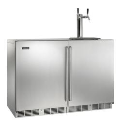 Brand: PERLICK, Model: HP48RTO1L1R3, Color: Stainless Steel solid door 2 Tap