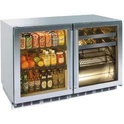 Brand: PERLICK, Model: HP48RRS3L5, Style: Stainless Framed Glass Doors/1 Right and 1 Left Hinge