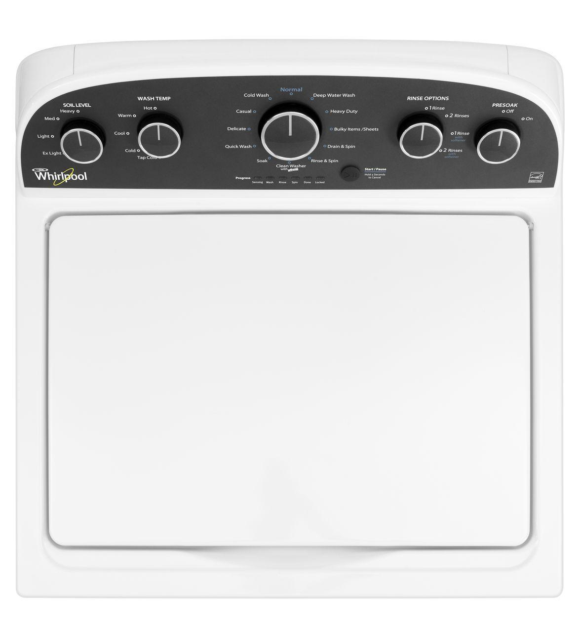 "Whirlpool WTW4850BW 27"" Top Load Washer With 3.6 Cu. Ft"