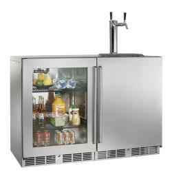 Brand: PERLICK, Model: HP48RTO3L1R1, Color: Stainless Steel solid door 2 tap