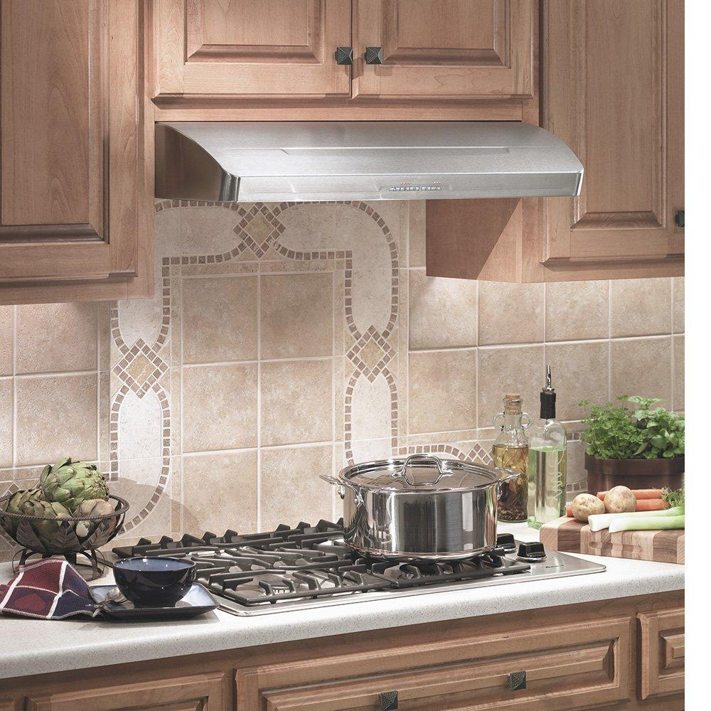 Retro Kitchen Vent Fan: Elite E661 Series Under Cabinet Mount Hoods