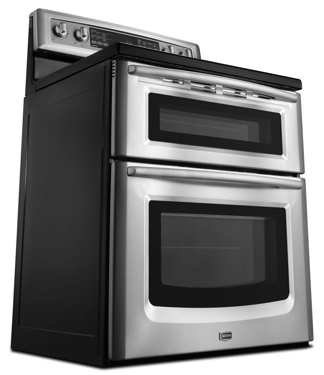 Met8776bw maytag met8776bw electric ranges white - Maytag electric double oven range ...