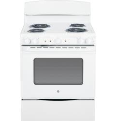 Brand: GE, Model: JB450RFSS, Color: White