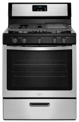 Brand: Whirlpool, Model: WFG505M0BB, Color: Stainless Steel