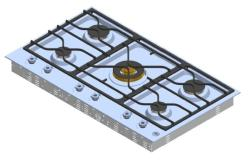 Brand: Bertazzoni, Model: PM36500X