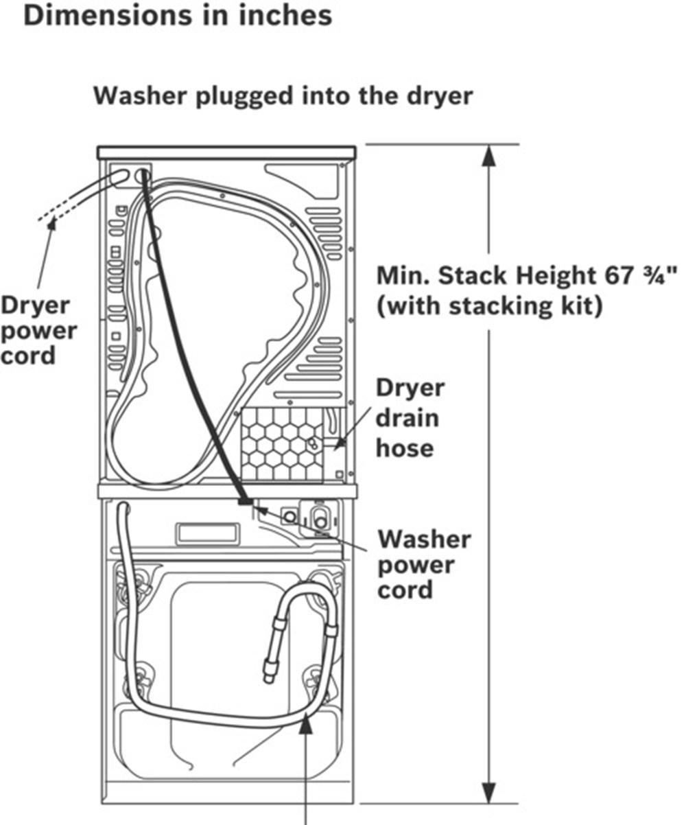 Bosch WAP24201UC 24 Inch 2.2 cu. ft. Front Load Washer