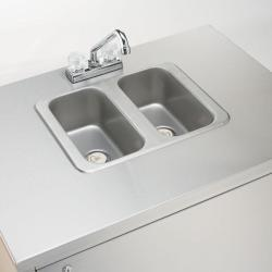 Brand: Crown Verity, Model: CVPHS3C, Style: Cold water Double sink