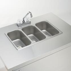 Brand: Crown Verity, Model: CVPHS2C, Style: Cold water Triple sink