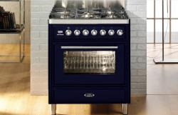 Brand: Ilve, Model: UMT76DVGGBL, Color: Midnight Blue
