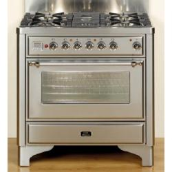 Brand: Ilve, Model: UM906VGGRBY, Color: Stainless Steel
