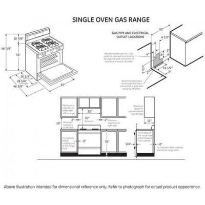 Hotpoint RGB525DEHBB 30 Inch Freestanding Gas Range with 4