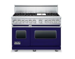 Brand: Viking, Model: VDR7486GDJLP, Fuel Type: Cobalt Blue