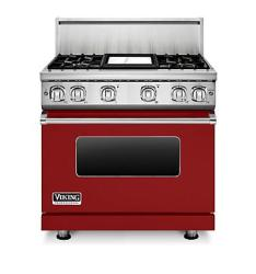 Brand: Viking, Model: VGR7364GGG, Fuel Type: Apple Red, Natural Gas
