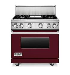Brand: Viking, Model: VGR7364GCNLP, Fuel Type: Burgundy, Natural Gas