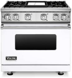 Brand: Viking, Model: VGR7364GCBLP, Fuel Type: White, Liquid Propane