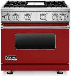 Brand: Viking, Model: VGR7364GCBLP, Fuel Type: Apple Red, Liquid Propane