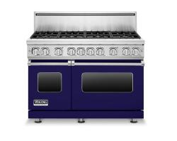 Brand: Viking, Model: VGR7488BBKLP, Color: Cobalt Blue, Natural Gas